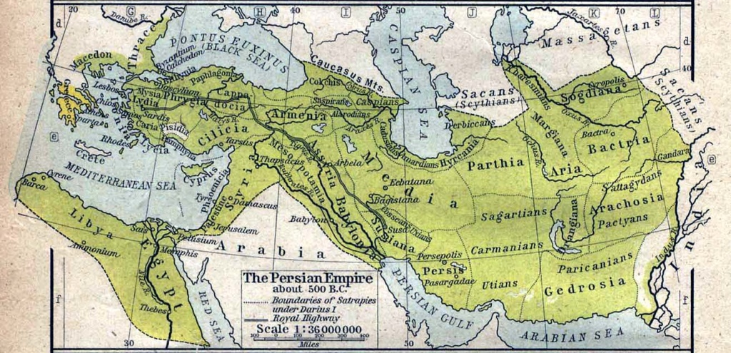 The first three kingdoms of babylon and medo persia and greece the persian empire about 500bc gumiabroncs Choice Image