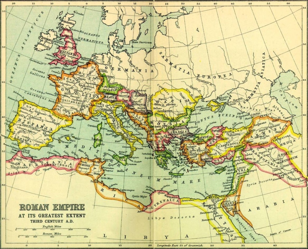 Late Roman Empire Map.The Four Beasts Or Kingdoms From The Book Of Daniel The Word On